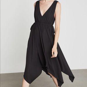 BCBGMAXAZRIA Asymmetrical Handkerchief Midi Dress